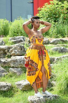ZUVAA - A Global Marketplace for African Design Rahyma Jezreel Dashiki Padded Bustier Maxi Dress