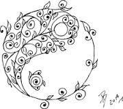 yin yang drawing - Google Search