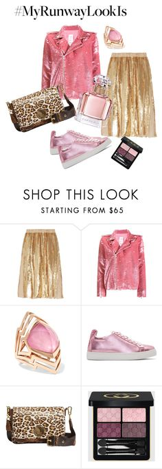 """Pink Crush Gold Leopard"" by boutiquebrowser ❤ liked on Polyvore featuring TIBI, Ashish, Stephen Webster, Sophia Webster, Karen Millen, Gucci and Guerlain"