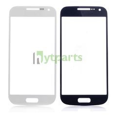 Replacement Front Outer Screen Glass Lens for Samsung Galaxy S4 Mini GT-I9190  White and blue for options.