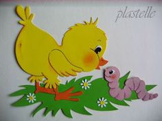galeria plastelle: PRZYGODY PAPIEROWEGO KURCZACZKA Bird Crafts, Plate Crafts, Foam Crafts, Paper Crafts For Kids, Diy And Crafts, Arts And Crafts, Easter Art, Easter Crafts, Craft Activities
