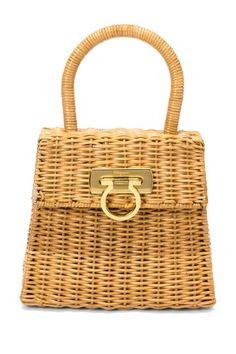 Vintage Ferragamo Wicker Bag...