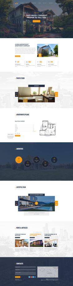 Aplex — Apartment Complex PSD Template #psd #listing #agent • Download ➝ https://themeforest.net/item/aplex-apartment-complex-psd-template/18701346?ref=pxcr
