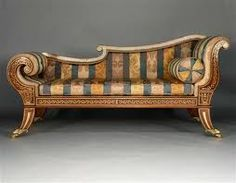 An English Regency Rosewood Chaise Longue Profusely Inlaid Throughoutu2026
