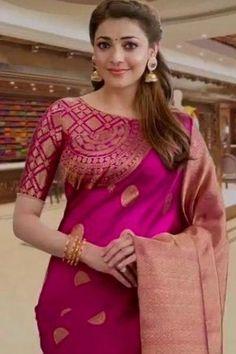 Half Saree Designs, Silk Saree Blouse Designs, Fancy Blouse Designs, Saree Blouse Patterns, Bridal Blouse Designs, Blouse Neck Designs, Soft Silk Sarees, Stylish Blouse Design, Saree Trends