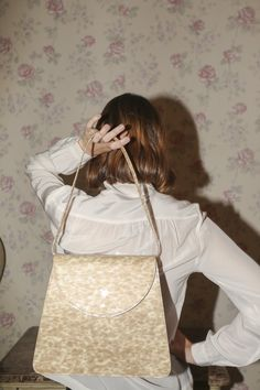 Maryam Nassir Zadeh Sophie Bag A in Blonde Tortoise Patent d264912a10f72