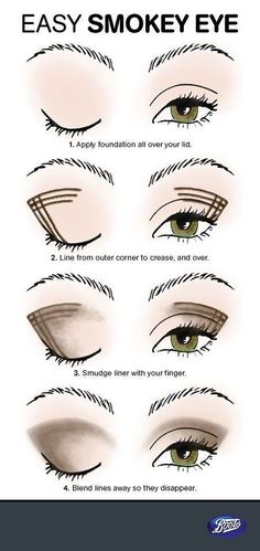 Look better immediately: You should know these makeup tips! With this trick, smokey eyes are no longer a problem even for beginners! tips eye make-up step by st. Makeup Hacks, Eye Makeup Tips, Beauty Makeup, Makeup Tutorials, Makeup Ideas, Eyeshadow Tutorials, Makeup Geek, Witch Makeup, Clown Makeup