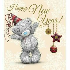 New Year Me to You Bear Card : Me to You Bears Online - The Tatty Teddy Superstore. Greetings Images, Happy New Year Greetings, New Year Wishes, Tatty Teddy, Christmas Pictures, Christmas Cards, Xmas, Urso Bear, Teddy Bear Pictures