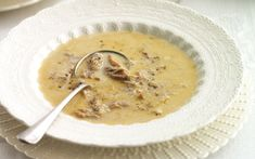 White soup was a staple at balls in Jane Austen's time, and is namechecked in   Pride and Prejudice.