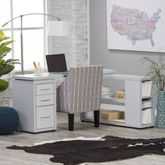 Hudson L-Shaped Desk - Gray - ThisHollowcore L-Shaped Desk – Gray provides a spacious workspace for your home or office, surrounding you on two sides so you can tackle ...