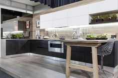 Kitchen Islands Queens, NY by German Kitchen Center. Our expert kitchen designers will bring your dream kitchen to reality, with stunning results. European Kitchens, Luxury Kitchens, German Kitchen, Kitchen Showroom, Building Design, Kitchen Design, Table, Kitchen Islands, Furniture