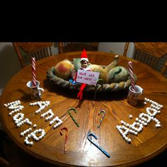 Our elf left the girls a chocolate surprise for that morning...Hot chocolate to be exact. ;)