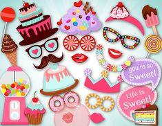 Instant Download Sweet Shoppe Photo Booth Props por OneStopDigital
