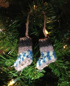 Mini Knitted Socks Ornament Miniature Decoration Hand by FabriArts