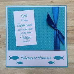 Einladung zur Kommunion / Konfirmation Fische von ♥Kristin´s Kartendesign♥ auf DaWanda.com