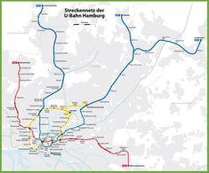 Hamburg U-Bahn map