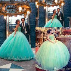 Mint Green Ball Gown Quinceanera Dresses 2016 Cheap New Sweetheart Long Prom Gowns Beads Lace Sweet 16 Vestidos De Quinceanera Wedding Gowns Online with $139.27/Piece on One-stopos's Store | DHgate.com