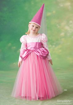 Toddler & child princess Costume Sewing Pattern 2569 Simplicity This could work for a Sofia dress, if I used something other than plain tulle for the skirt, and added some of Sofia's embellishments . . .