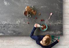 Caesarstone Engineered Quartz - The Concrete Series - Sustainable Kitchens Quartz Countertops Colors, Quartz Kitchen Countertops, Concrete Kitchen, Concrete Countertops, Kitchen Worktop, Caesarstone Concrete, Beach House Kitchens, Kitchen Benches, Interiores Design