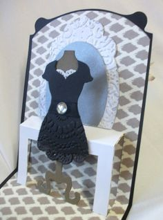 Julia's Cards: Black and Lacey!!!