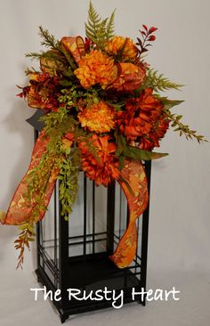 Lantern Swag Fall by TheRustyHeart on Etsy, $34.99