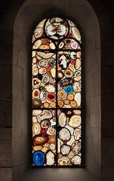 Agate windows in Zurich, Germany