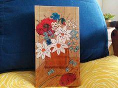 Пано с цветя - пирограф