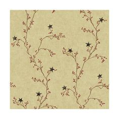 York Wallcoverings YC3412 Star Berry Vine Wallpaper Parchment Tan / ($58) ❤ liked on Polyvore featuring home, home decor, wallpaper, backgrounds, double roll wallpaper, york wallcoverings, border wallpaper, bead board wallpaper and star wallpaper