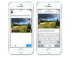 Social media should be accessible to everyone. Screen readers and braille technology do a great job with text posts, but until now images have been out of Twitter App, Twitter Image, Twitter Update, Social Media Trends, Social Media Marketing, Marketing Strategies, Digital Technology, New Technology, Applications Android