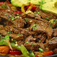 Mexican Steak Fajitas Marinade (Our Favorite!) - Oh Sweet Basil Our favorite steak fajitas marinade has a few secrets that make it extra flavorful and tender. Grilling is optional but produces even more deliciousness! Meat Recipes, Mexican Food Recipes, Chicken Recipes, Cooking Recipes, Healthy Recipes, Steak Pieces Recipes, Beef Chunks Recipes, Chuck Steak Recipes, Steak Dinner Recipes