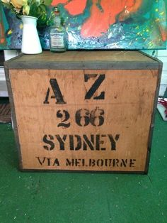 Bushell's Tea Industrial Crate Box Old Antique- Vintage/retro coffee table
