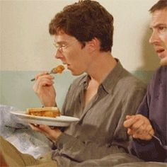 where there is new food try... *gif* #BenedictCumberbatch - I found this *hilaroius*...not sure why. xD