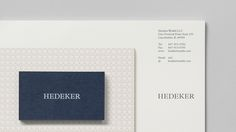 Logo, letterhead and business cards for Illinois based Hedeker Wealth & Law by Socio Design