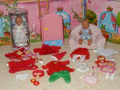 65, Zapf, 2 Mini Baby Born Puppen, Couch, Schrank, Kleidung in Spielzeug, Puppen & Zubehör, Sonstige   eBay!