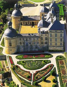 Le Château de Hautefort in France. featured in the film Ever After. SO beautiful inside and out. The French gardens here were so intricate. The English gardens were tranquil.
