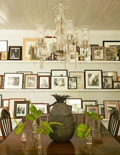 Hicks furnished the dining room of her Bahamas retreat with a table and chairs she purchased in New Orleans.