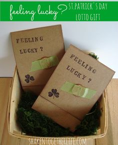 Feeling lucky? lotto gift for St. Patrick's Day at shakentogetherlife.com
