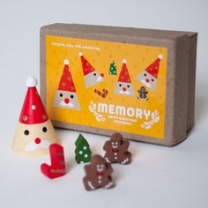 Holiday Wood Toy Memory Game