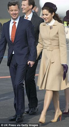 King Willem-Alexander and Queen Maxima State visits Denmark- Welcoming ceremony at the airport