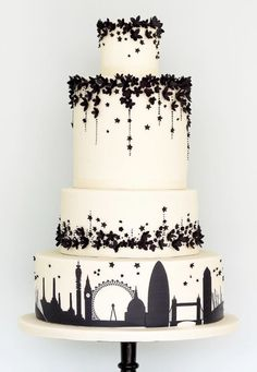 Wedding cake idea; Featured Cake: Rosalind Miller Cakes