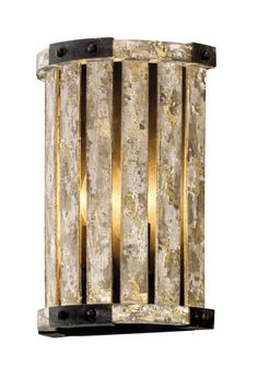"Troy Lighting B5331 Stix 2 Light 8.25"" Wide Hand Worked Wall Sconce with Antique Antique Gold Leaf Indoor Lighting Wall Sconces"