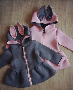 Qianquhui 2017 New Jacket For Girls Autumn Animal Rabbit Design Cotton Zipper Spring Hooded Baby Girl Coat Children Jackets Baby Outfits, Baby Girl Dresses, Toddler Outfits, Baby Dress, Cute Outfits, Baby Girl Fashion, Kids Fashion, Kids Coats Girls, Baby Coat