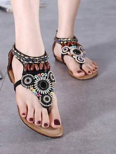 Sku Material PU Pattern Bohemian Season Spring ,Summer,Autumn Style Thick Heels Heels Color Black,Creamy Size size US Size AU size (Inch) (CM) 35 5 22 36 4 37 6 9 23 38 39 6 24 40 8 41 7 25 42 1 Minimalist Shoes, Beach Casual, Thick Heels, Water Shoes, Maxi Dress With Sleeves, One Piece Swimwear, Flat Sandals, Womens Flats, Comfortable Shoes