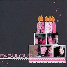 Scrapbooking gâteau anniversaire