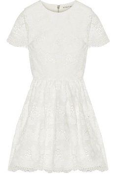 Alice Olivia - Karen Lace Mini Dress - Off-white - US0
