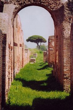 ancient Roman Harbour, Ostia Antica, Rome,  Lazio