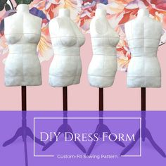 DIY Dress Form Sewing Pattern PDF Designer Sewing Patterns, Affordable Trend Reports and Fashion Designer Resources
