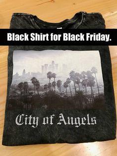 Black Friday City of Angels Black T-Shirt