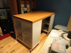 Cross another goal off the list. The DIY Project Table is done-zo. Ahh, the idea of having a home for my craftiness. Meaning I would not h...