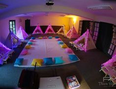"Sleepover / Sleepover party ""Sleepover Party - Indoor Tents with Lights!"" 